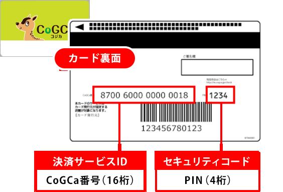ポイント マイナ コジカ カード 決済サービスID・セキュリティコードの確認方法